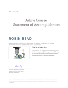 Coursera online stanford machine learning course is finished coursera online stanford machine learning course is finished robin read yadclub Image collections